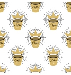 Coffee flavor hand drawn seamless pattern vector image vector image