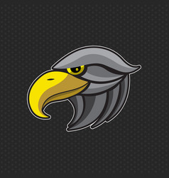 Eagles logo design template eagles head icon vector