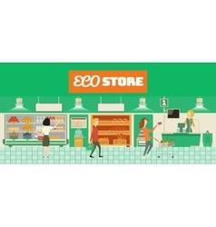 Eco food store vector