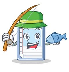 Fishing clipboard character cartoon style vector