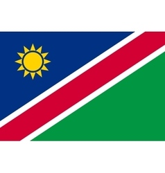 Flag of namibia in correct proportions and colors vector