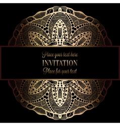 Invitation decorative golds 44 vector