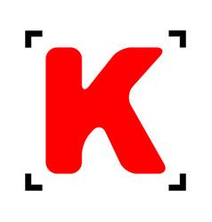 letter k sign design template element red vector image