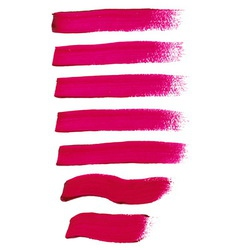 Magenta ink brush strokes vector
