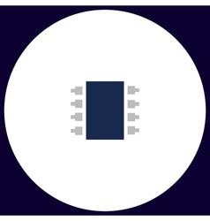 Microchip computer symbol vector image vector image
