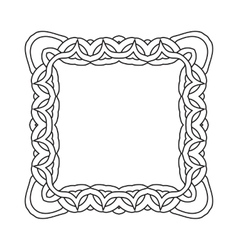 Ornamental lace pattern Abstract ornament Orient vector image vector image