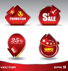 Red sale promotion vector