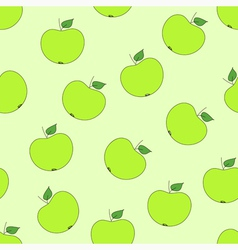 Seamless pattern with green apples vector