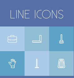 set of 6 editable apparatus icons includes vector image vector image