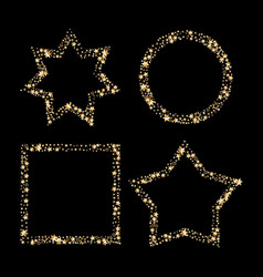 set of gold glitter frames star dust in vector image vector image