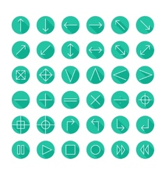 thin icons set for web and mobile Line simple vector image vector image