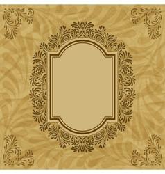 Vintage floral pattern frame vector image vector image