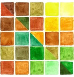Watercolor geometric square seamless pattern vector image vector image