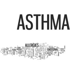 Why do you have asthma text word cloud concept vector