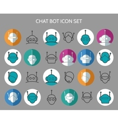 Chat bot icons vector