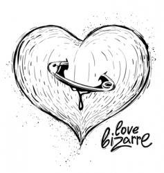 Heart sketch vector