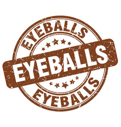 Eyeballs brown grunge stamp vector