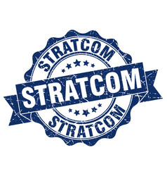 Stratcom stamp sign seal vector