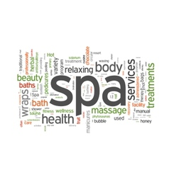 Spa word cloud vector