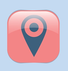 pin location on the map vector image