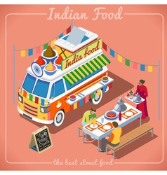 Food truck 02 vehicle isometric vector