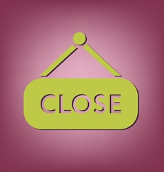 Close label sign symbol icon tablet closed vector