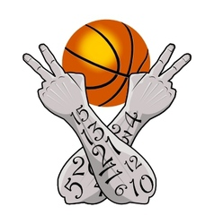 Basketball victory vector