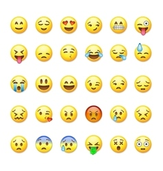 Set of emoticons emoji isolated on vector