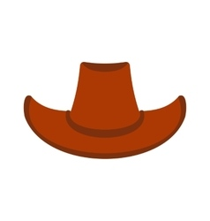Cowboy hat icon vector