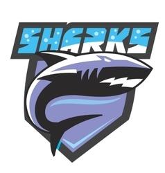 color shark icon vector image