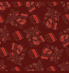 afrikanskj seamless pattern vector image vector image