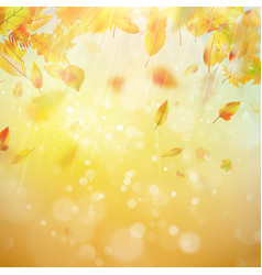 Autumn theme background eps 10 vector