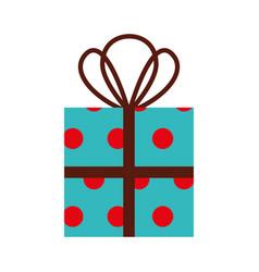 christmas gift box wrappied ribbon celebration vector image vector image