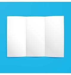 Empty Tri Fold Paper Mockup vector image
