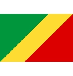 Flag of Republic of the Congo correct size colors vector image vector image