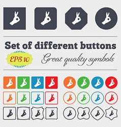 Gesture ok icon sign Big set of colorful diverse vector image