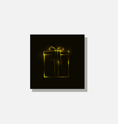 Gift box is golden color vector
