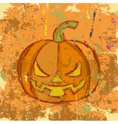 Halloween grunge pumpkin vector image