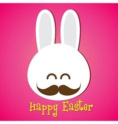 Happy easter smile rabbit bunny cartoon 002 vector image