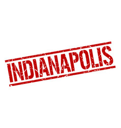 Indianapolis red square stamp vector