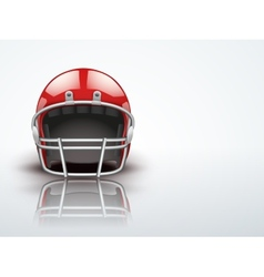 Light Background Realistic American football vector image vector image