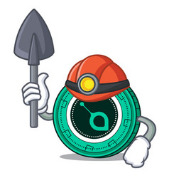 Miner siacoin mascot cartoon style vector