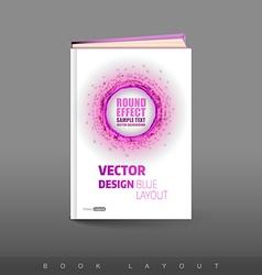 Modern abstract brochure as book football theme vector