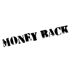 Money Back rubber stamp vector image