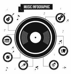 Music infographic simple style vector image vector image