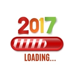 New year 2017 loading bar isolated on white vector image