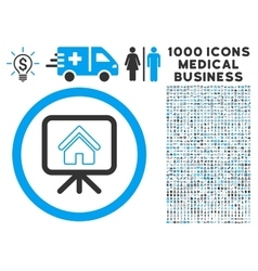 Project slideshow icon with 1000 medical business vector