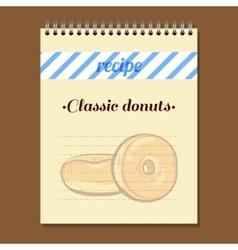 Recipe Book Classic Donut vector image