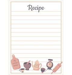 Recipe card vert vector