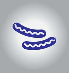 Sausage grilled icon vector